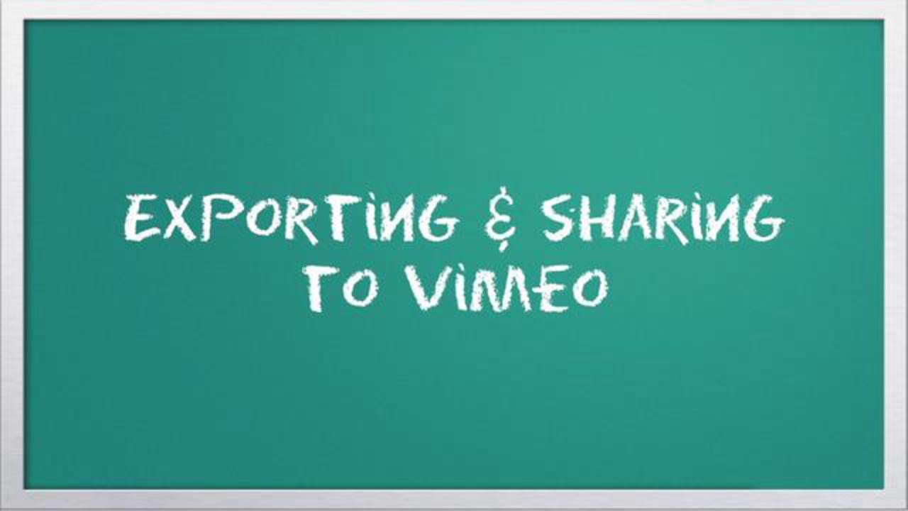 Video 101: Exporting & sharing to Vimeo with iMovie - Vimeo Blog
