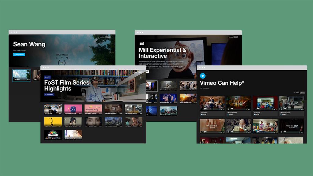 Vimeo Showcase examples