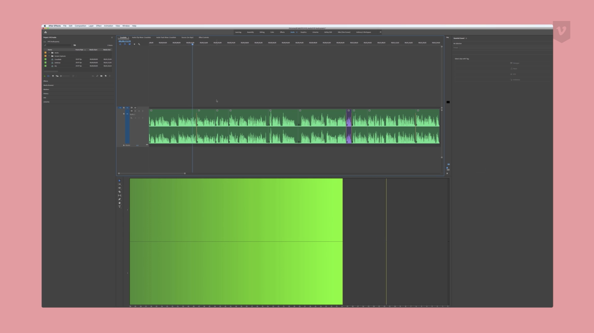 An intro to Adobe Premiere Pro audio effects: Crossfades - Vimeo Blog