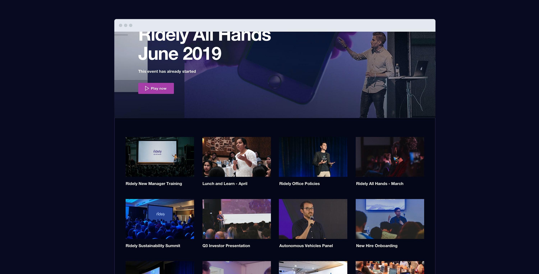 Vimeo Enterprise showcase private video gallery