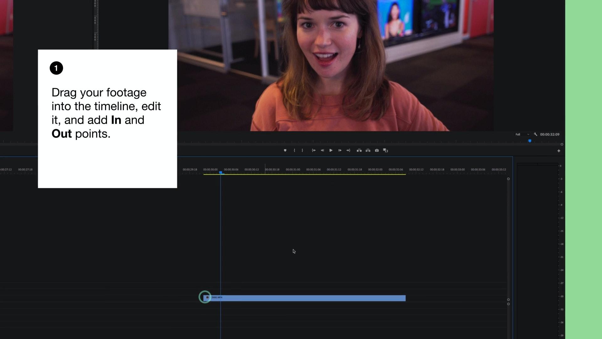 Adobe Premiere timeline