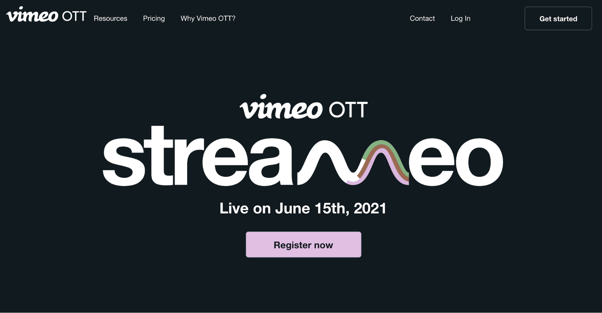 Example of video marketing with Vimeo's Streameo event