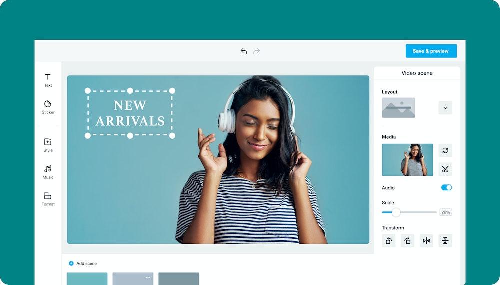 ecommerce video new arrivals