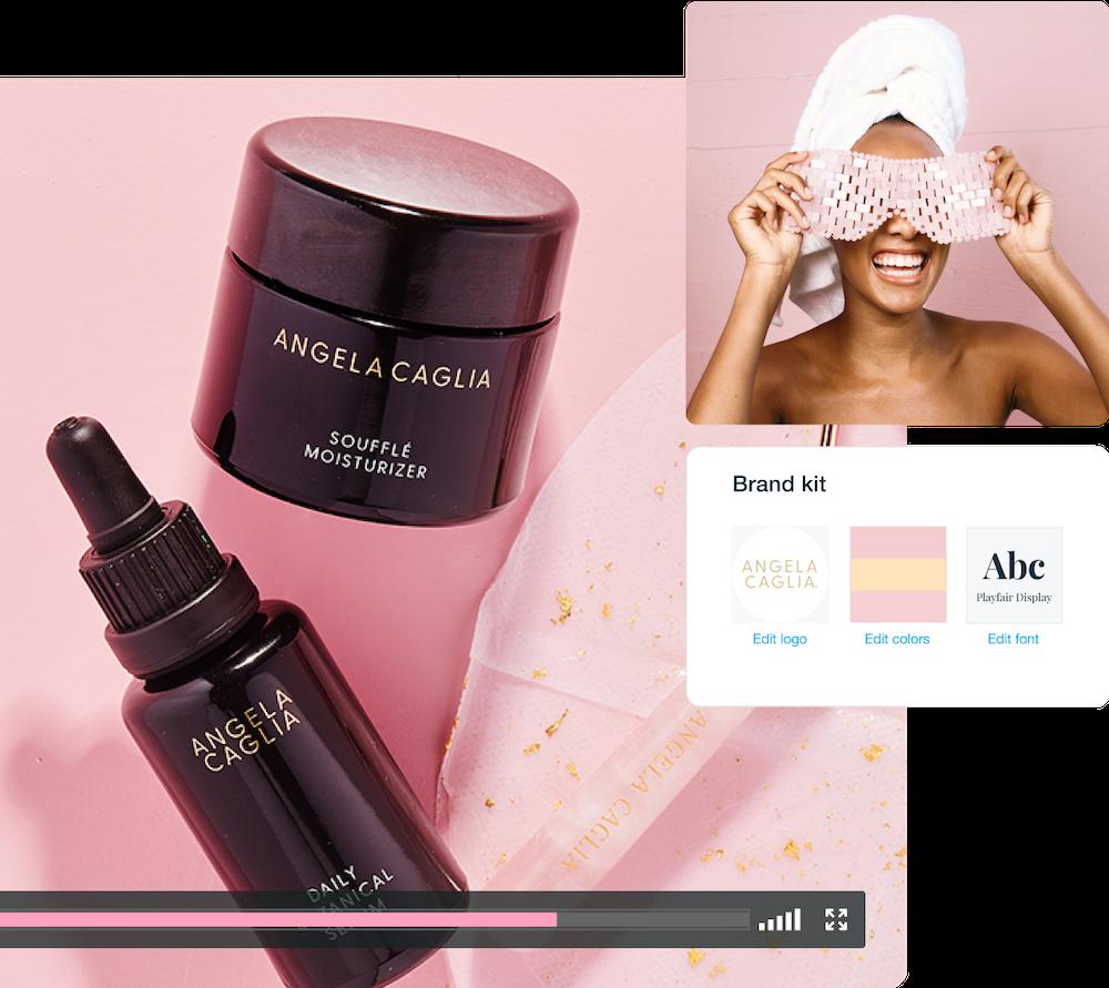 Skincare company video brand kit