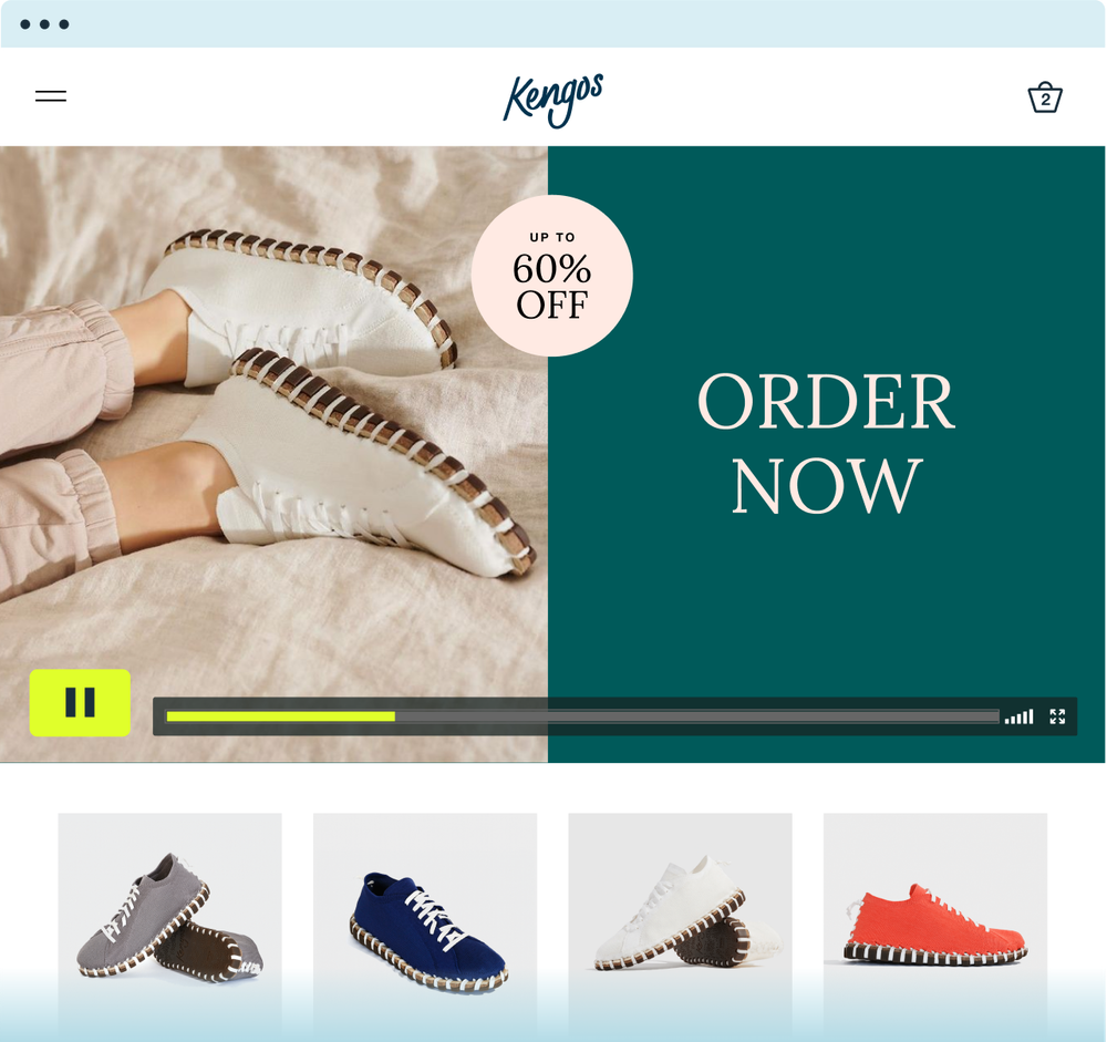 video maker depicting a video ad selling shoes